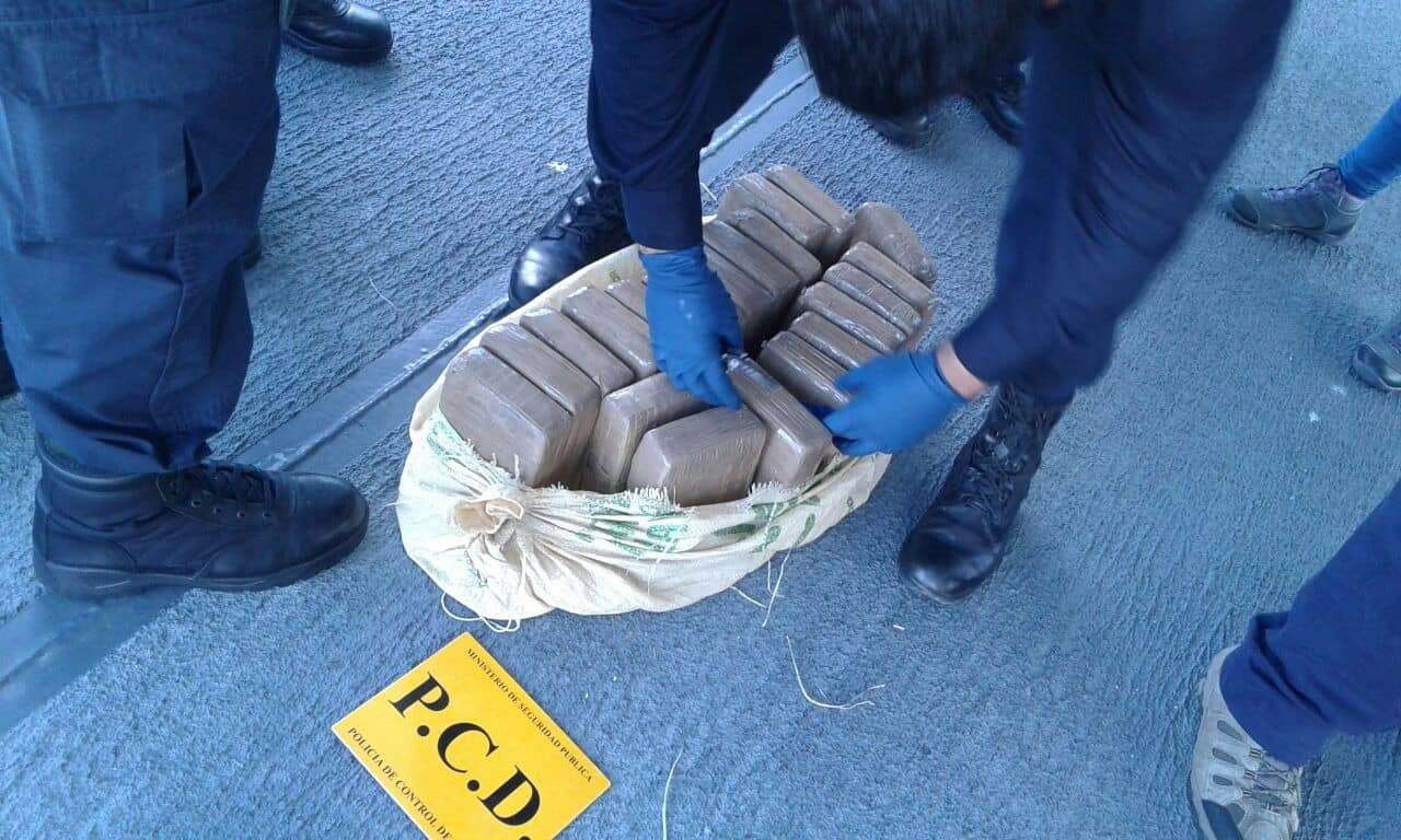 Some of the 1.37 metric tons of cocaine seized off the coasts of Costa Rica and Panama.