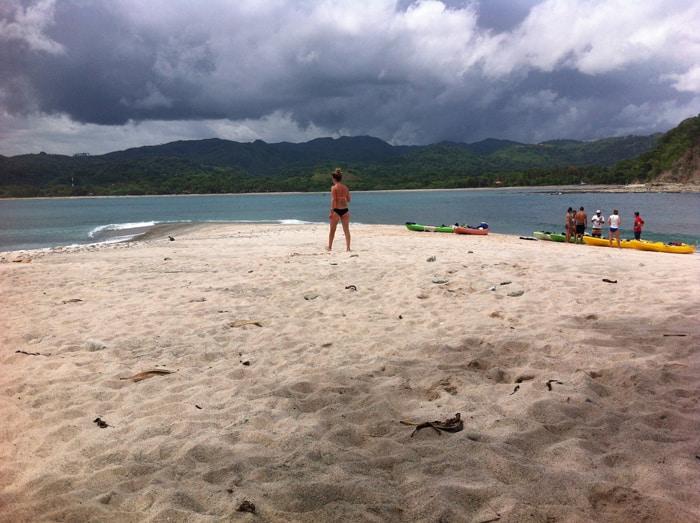 Kaitlyn O'Connor on Isla Chora.