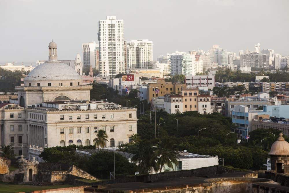 Old San Juan, the center for Puerto Rican tourism.