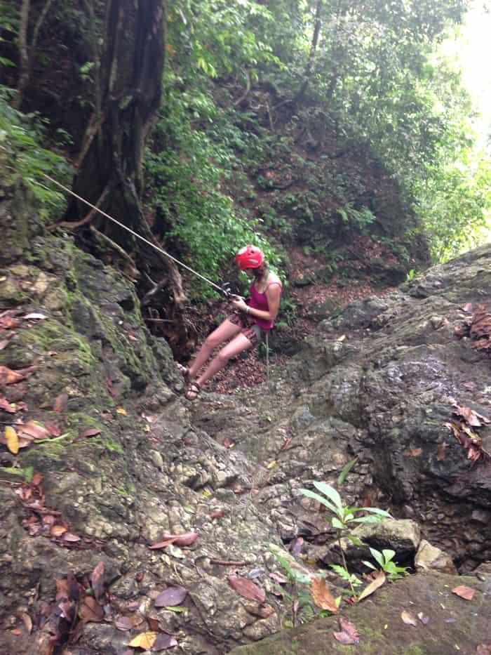 Katelynn Stratton on the Small Falls.