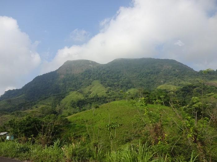 The road into Chiapas.
