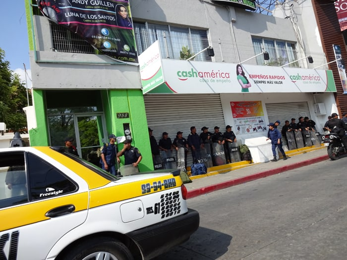 The Mexican police were out in force for Election Day.