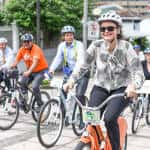 European Union ambassadors ride their bikes through San José to send a message