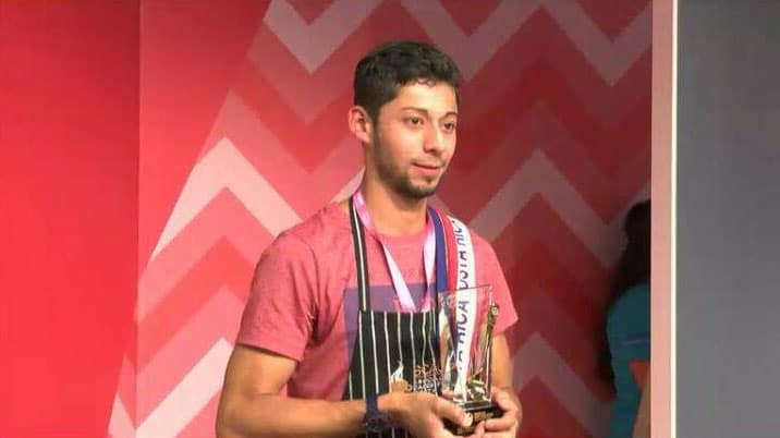 Juan Gabriel Cespedes, winner of the 2015 World Cup Tasters Championship.