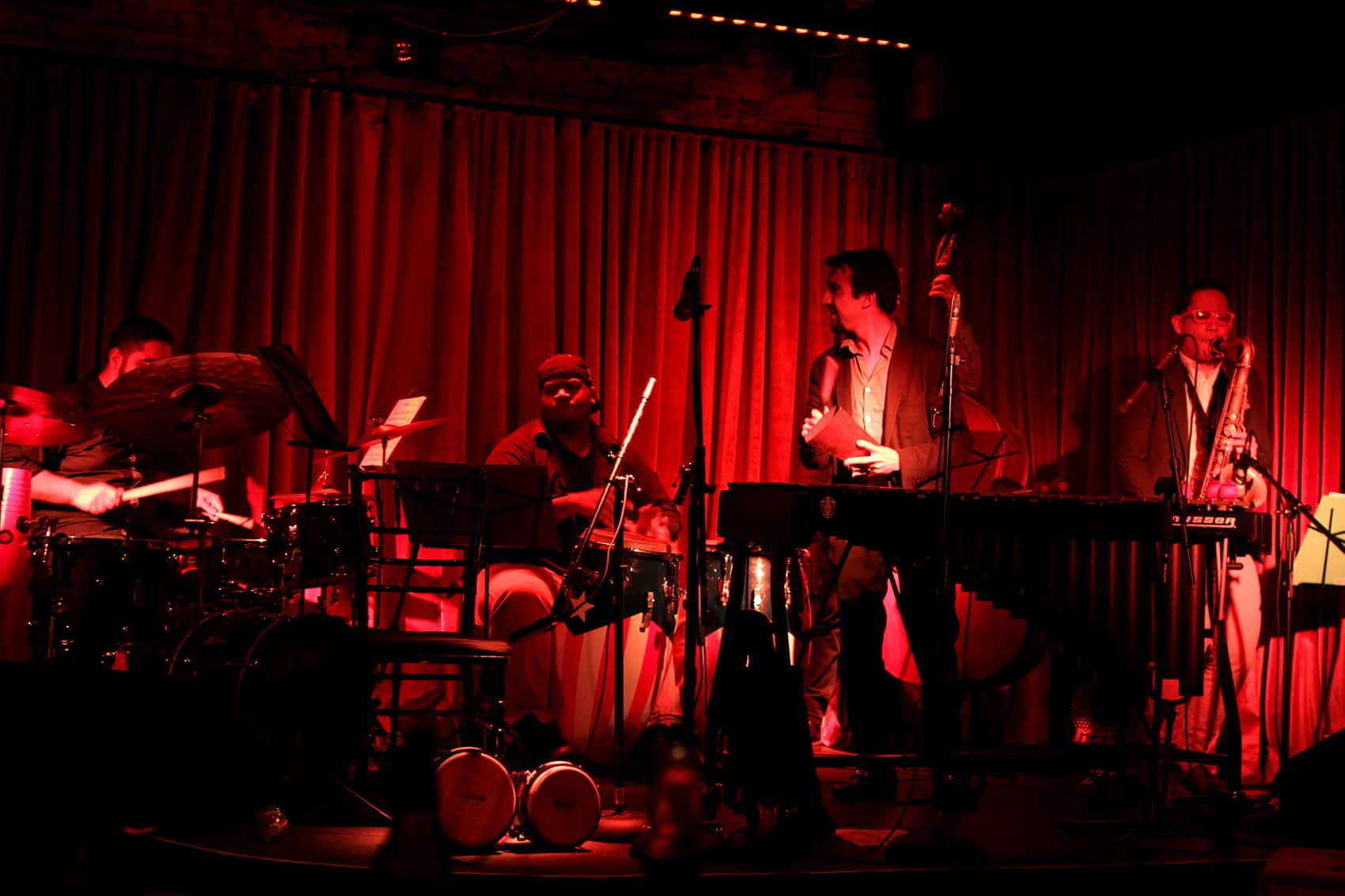 Super Mambo, a band created in 2014, performs on June 22 at the newly opened Latin jazz club Subrosa in Manhattan's fancy Meatpacking District.