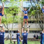 The University's cheerleaders also performed during the 2015 World Environment Day celebrations.