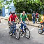 Bicycles were one of the most used vehicles in the university's campus during the 2015 World Environment Day 2015.