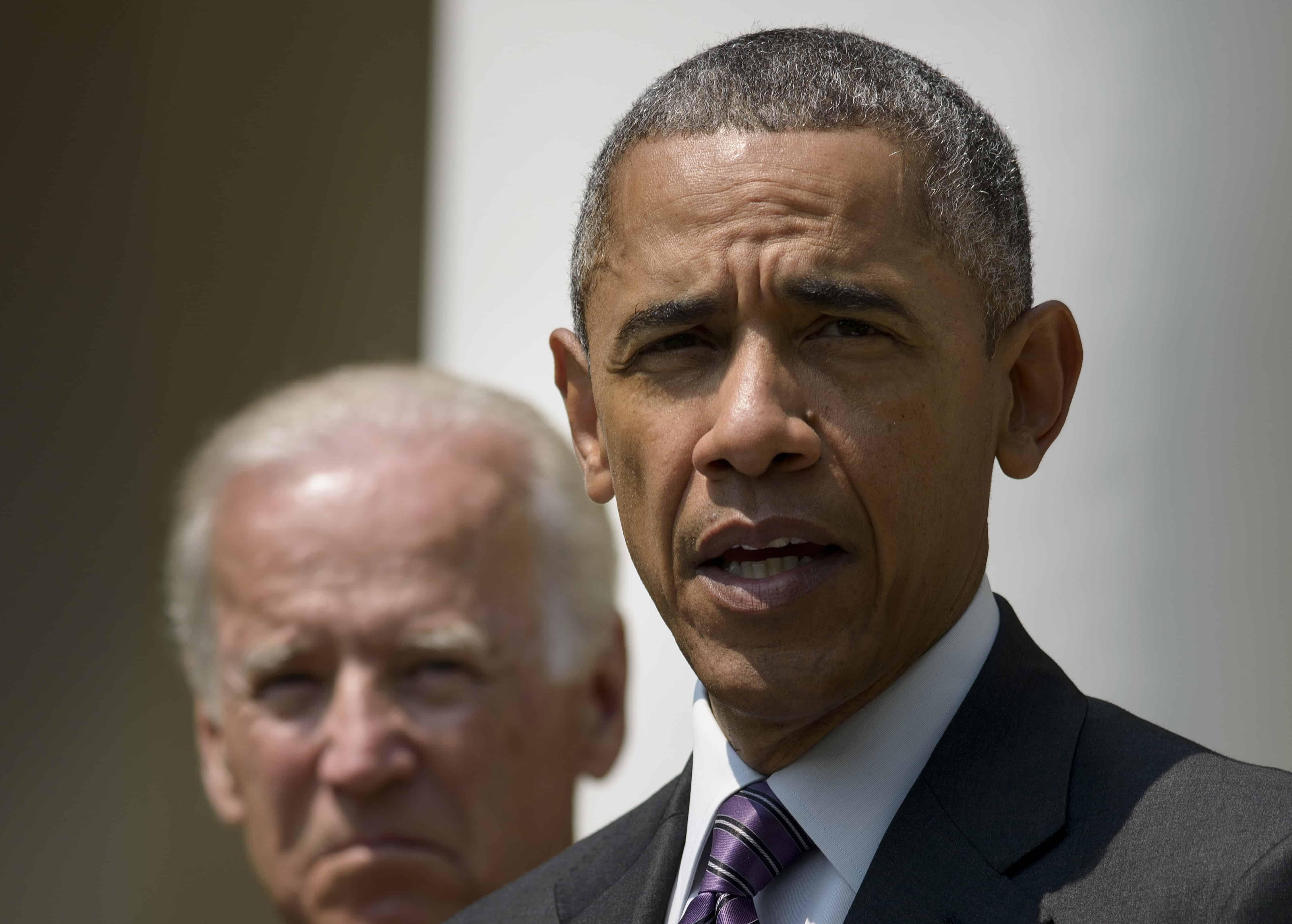 U.S. Vice President Joe Biden land President Barack Obama on Cuba embargo.