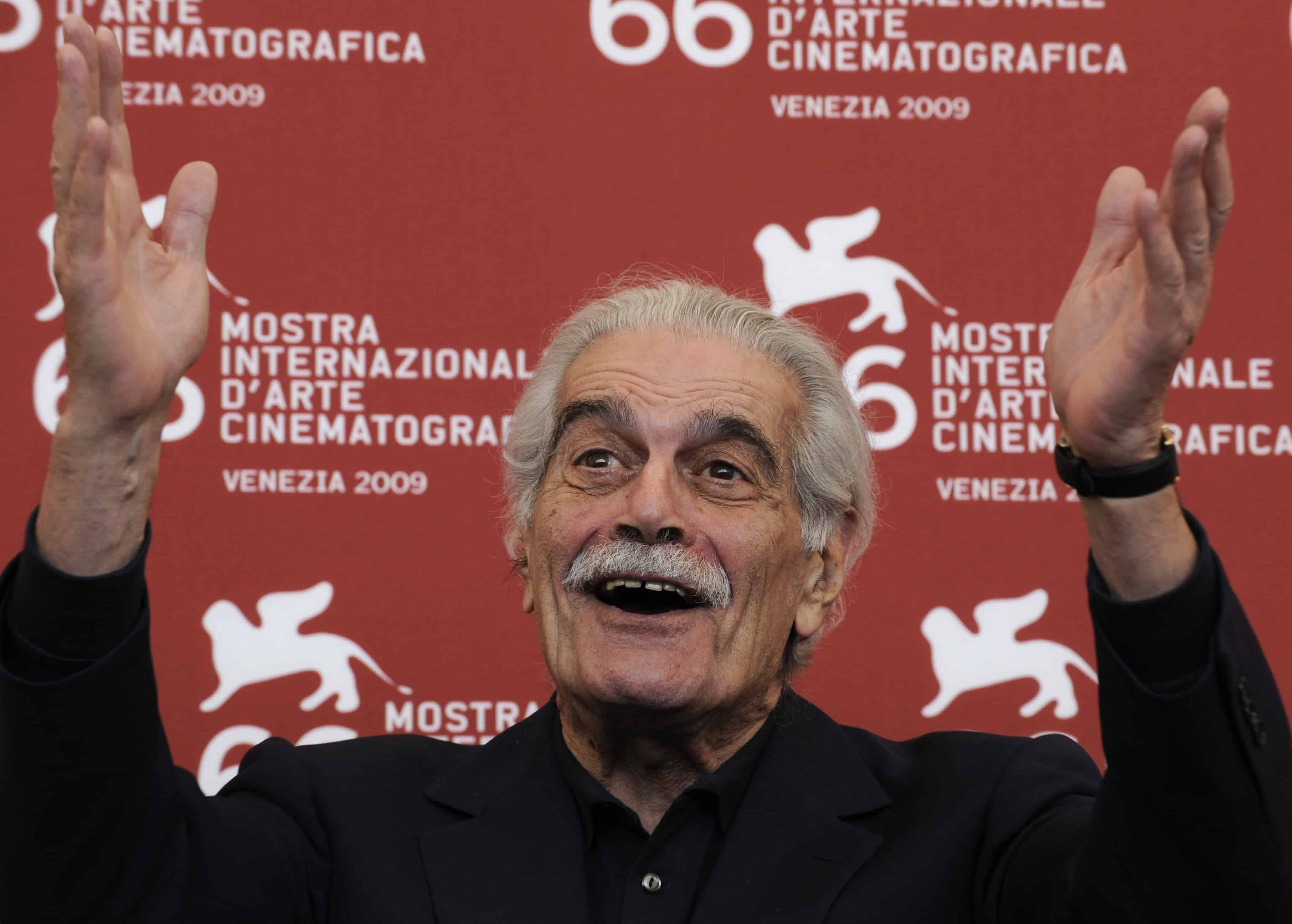 "A file picture taken on September 10, 2009 shows Egyptian film legend Omar Sharif posing during the photocall of ""Al Mosafer"" (The Traveller) at the Venice film festival."