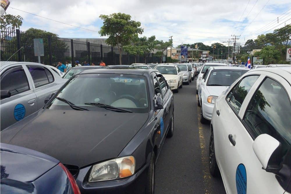 Porteadores blockades, July 08 2015.