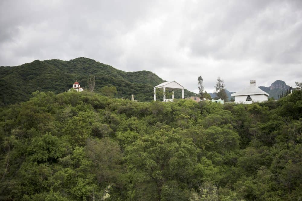 A cemetery known for the many prominent narco-traffickers who are buried there sits on a hilltop in Santiago De Los Caballeros, Mexico, July 17, 2015.