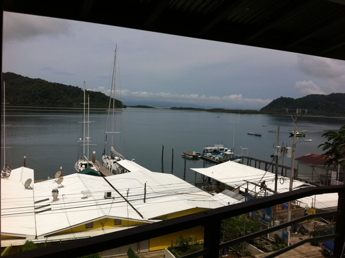 View of the bay overlooking the Banana Bay Marina in Golfito, Costa Rica.
