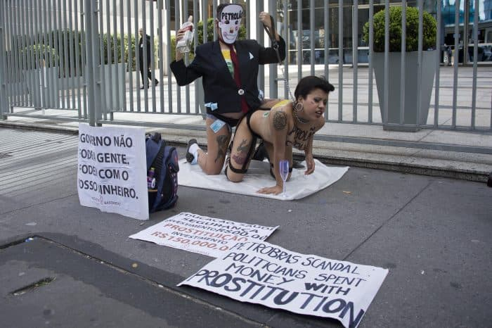 Activists from the Bastardxs women's rights movement demonstrate.