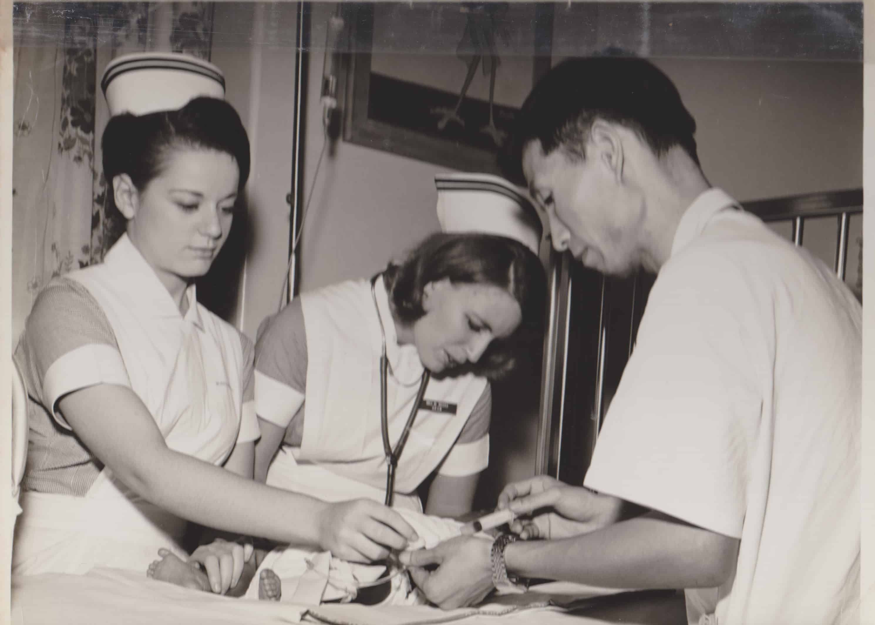 From a young age, Elaine Fendell, left, talked about becoming a nurse and helping people.