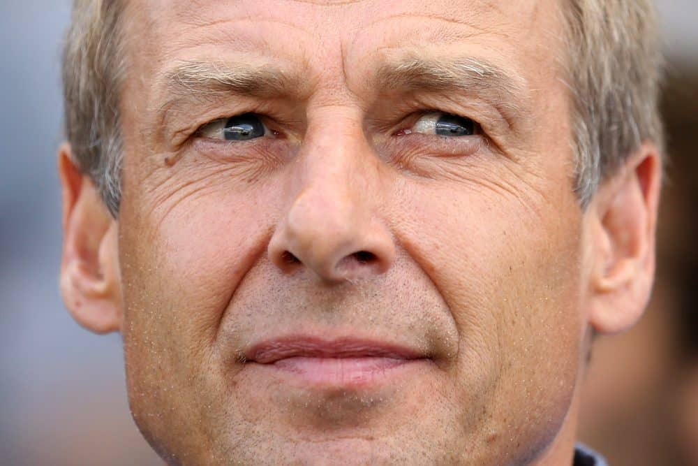 U.S. men's football team head coach Jurgen Klinsmann.