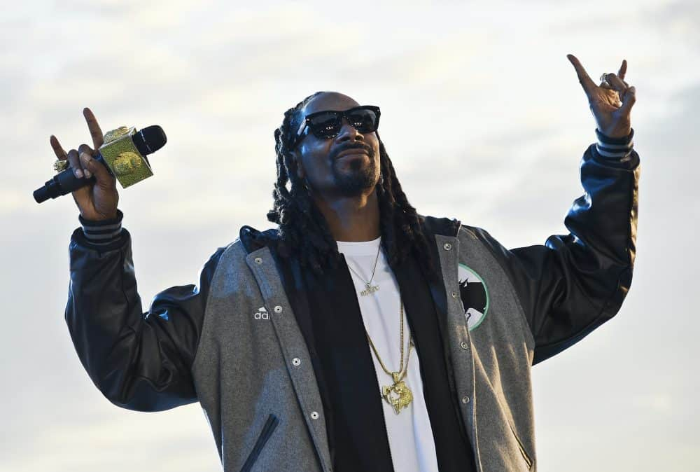 U.S. rapper Snoop Dogg performs.