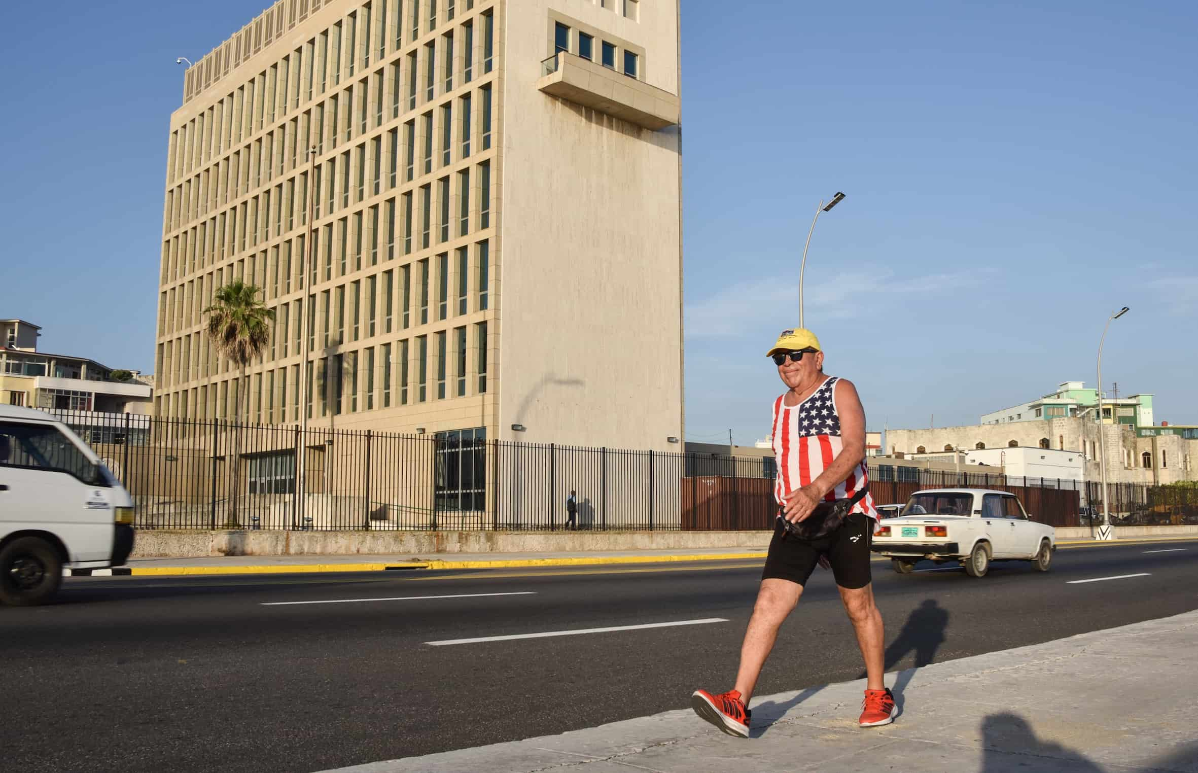 US traveler in Cuba despite Cuba embargo.