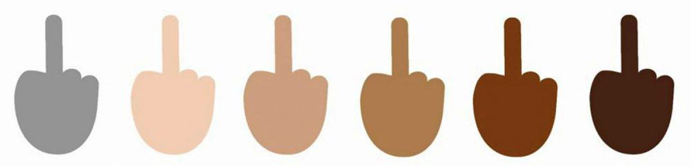 """Microsoft's new Windows 10 operating system includes support for the """"Reversed Hand with Middle Finger Extended"""" emoji."""