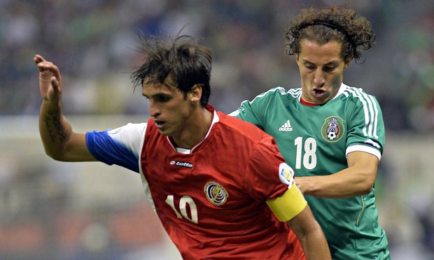 Team captains Bryan Ruíz (left) of Costa Rica and André Guardado of Mexico meet again to battle for a spot in the Gold Cup semifinals.