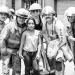 Visitors had a chance to take photos with firefighters at the 150 anniversary of the Costa Rican Fire Department Sunday, July 26, at the Plaza de la Cultura in San José.