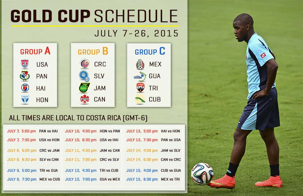 Gold Cup schedule