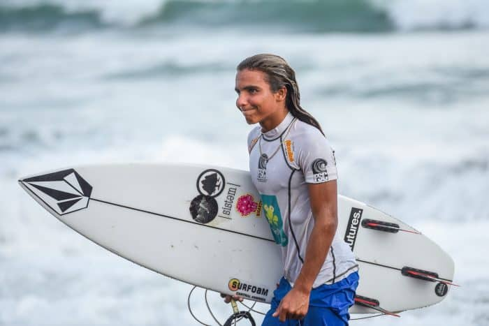 Though just 14 years old, Malakai Martínez is already being called the next great Costa Rican surfer.