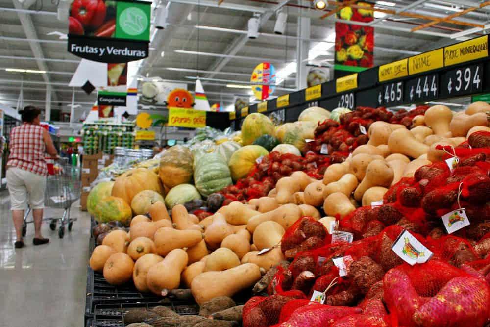 Goods at supermarket