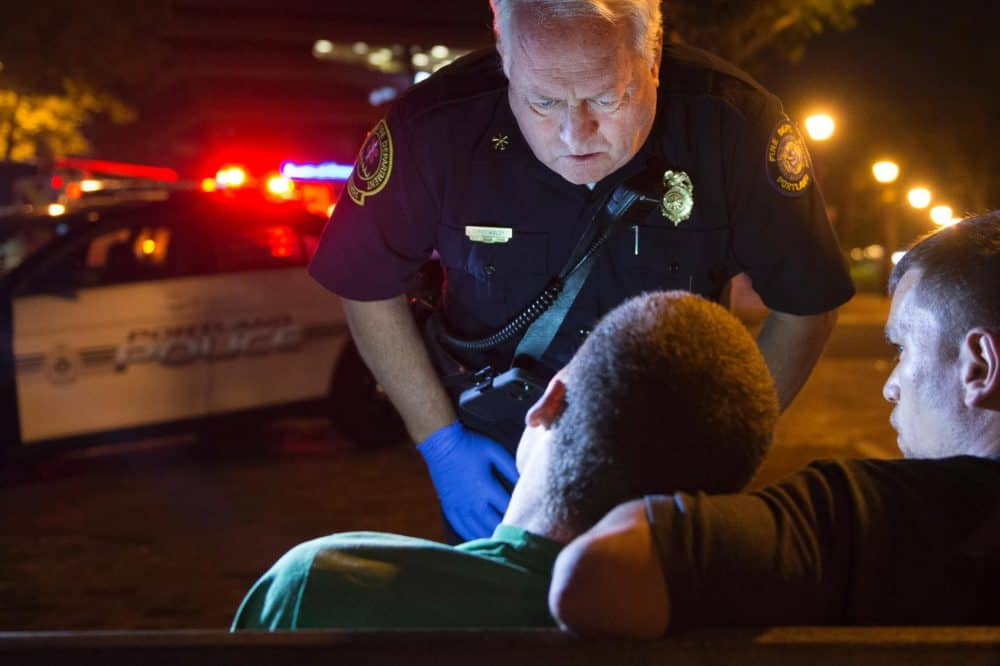 Terry Walsh, fire deputy chief in Portland, Maine, responds to a possible heroin overdose.