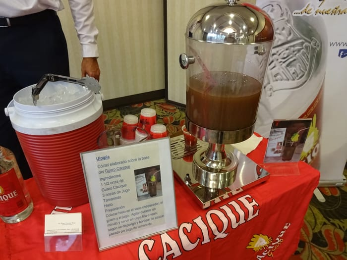 A Cacique guaro concoction was offered at the 9 a.m. news conference.