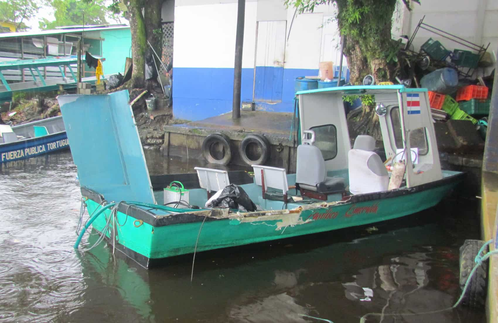 "The boat ""Basilico"" that carried Benita Smith, 58, when she drowned on Aug. 15, 2015 in the canals of Tortuguero."