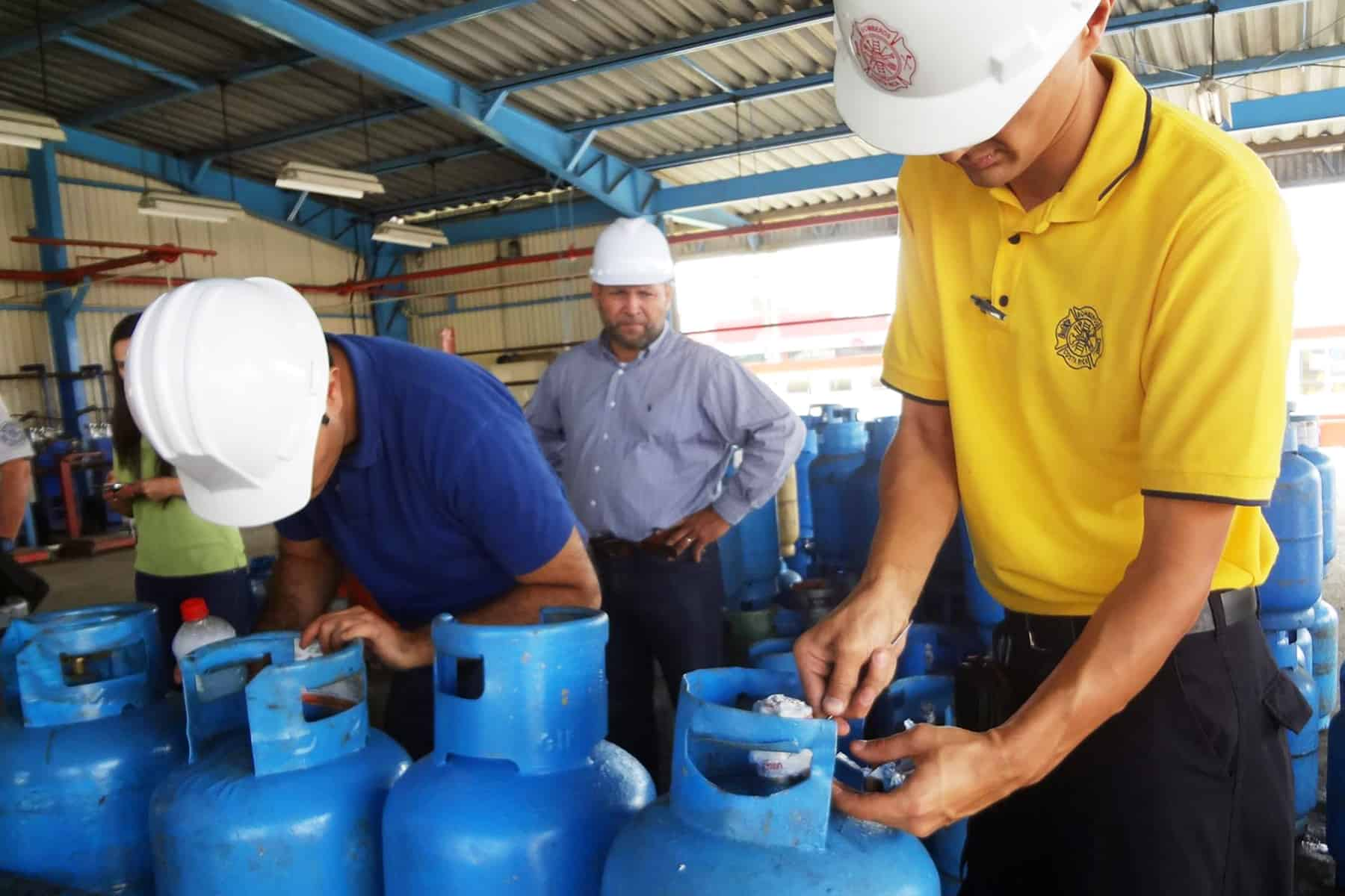 Inspection of propane cylinders