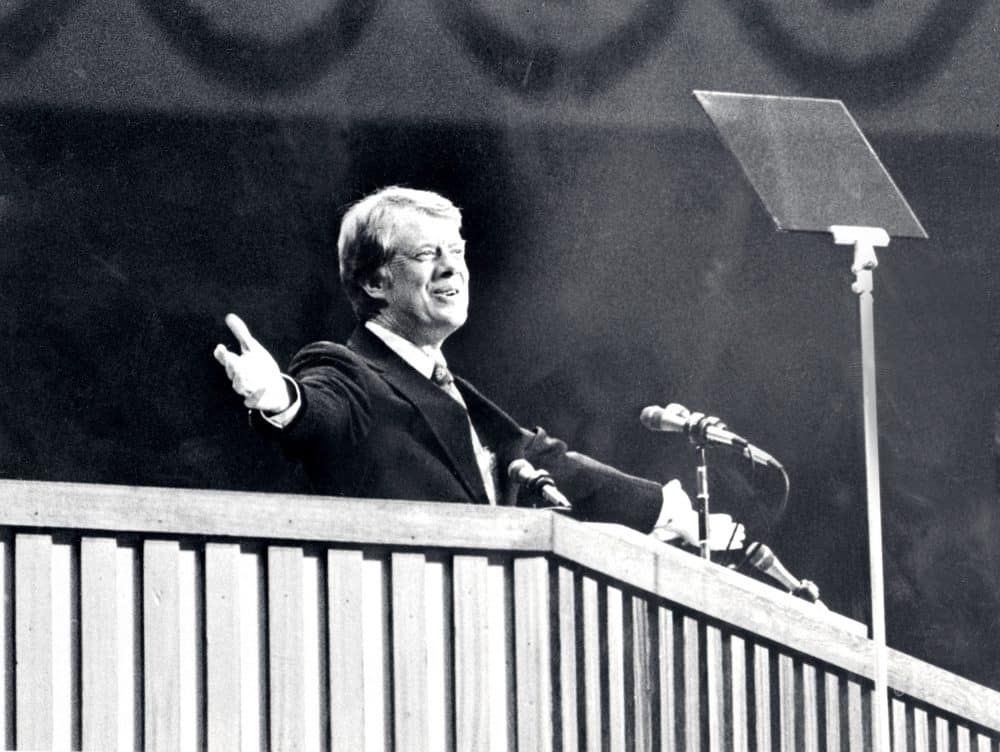 A 1976 photo of Democratic presidential candidate Jimmy Carter