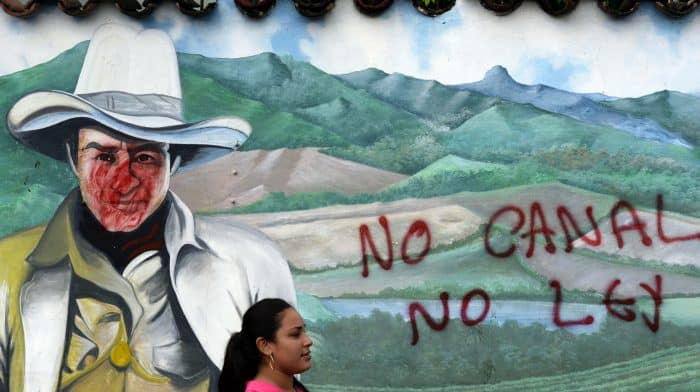 """Graffitti: """"No"""" to the Nicaragua Canal"""