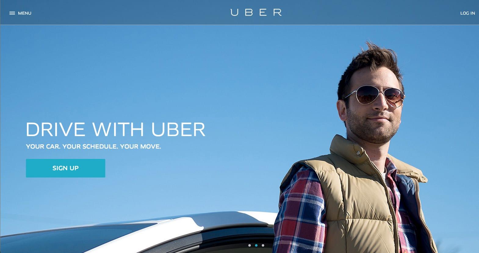 Uber in Costa Rica: Screenshot of Uber driver