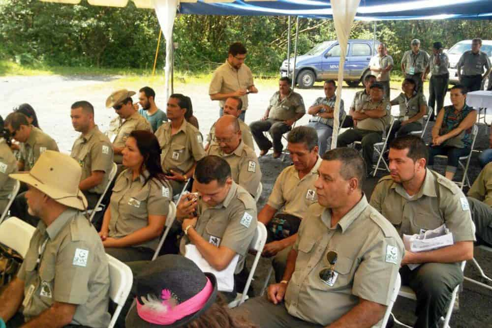 Park rangers at National Park's Day, Aug. 25 2015
