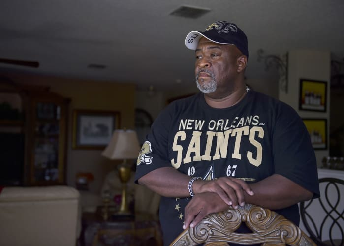 Darron Burton, 49, fled New Orleans for Wylie, Texas, after Hurricane Katrina. He was relocated because of his job and decided to stay.