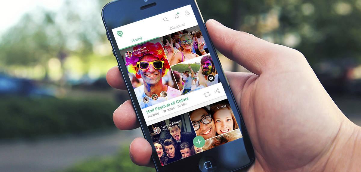 Heygo photosharing app, for illustrative purposes.