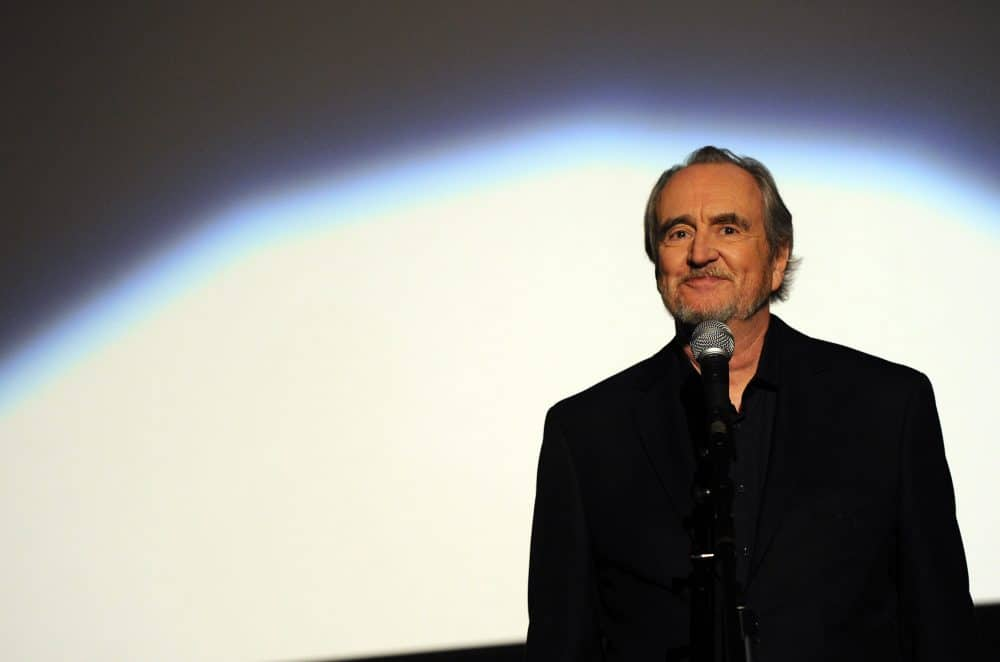 """Director Wes Craven speaks at the premiere of The Weinstein Company's """"Scream 4"""" held at Grauman's Chinese Theatre on April 11, 2011 in Hollywood, California."""