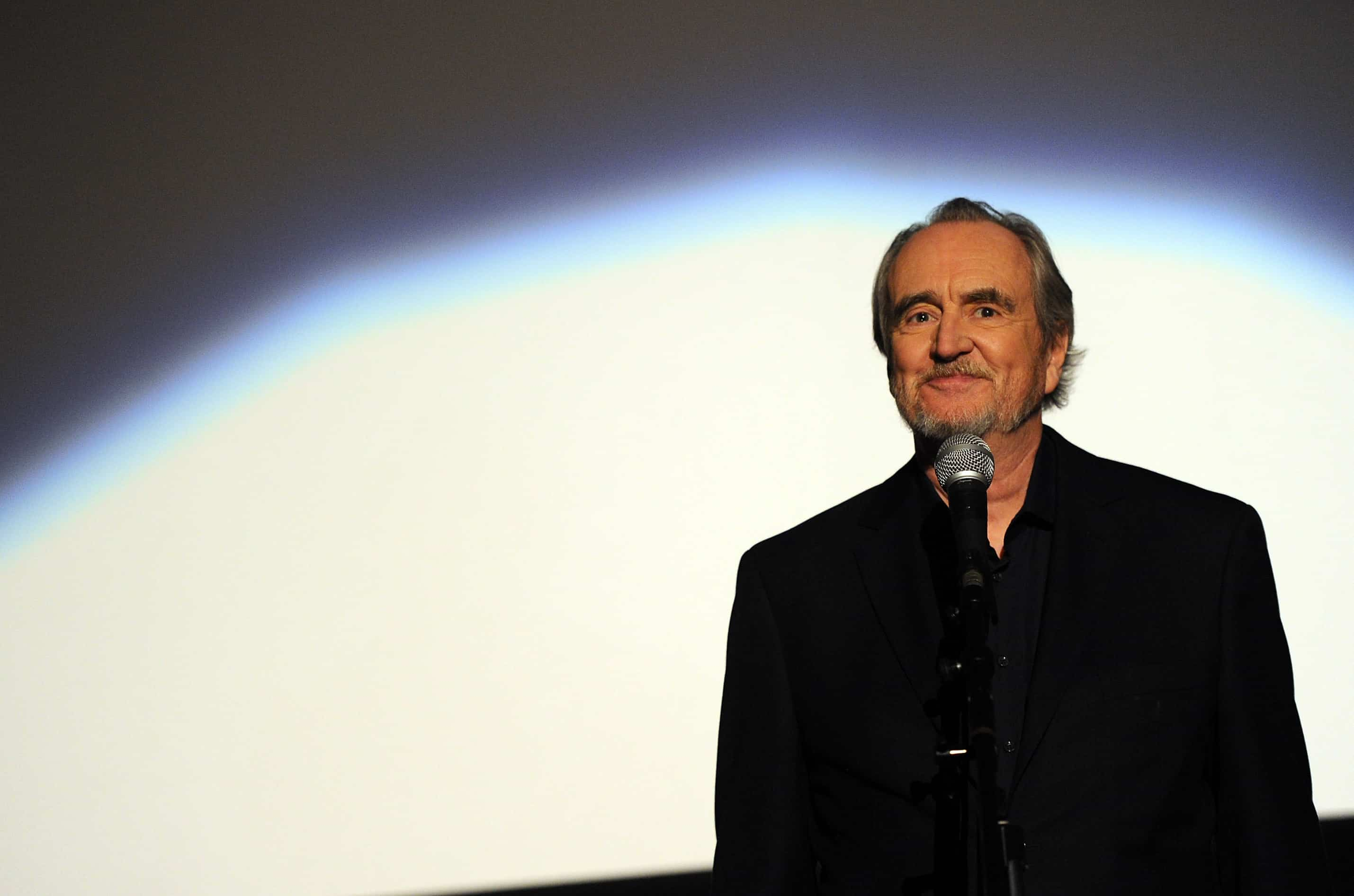 "Director Wes Craven speaks at the premiere of The Weinstein Company's ""Scream 4"" held at Grauman's Chinese Theatre on April 11, 2011 in Hollywood, California."