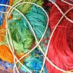 Dyed fibers.