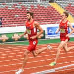 Andrew Wheating and Daniel Winn of the United States finished first and second in the men's 1,500 meter final on Saturday at the NACAC Championships in Costa Rica's National Stadium.