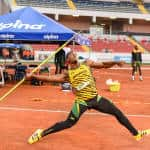 Jamaica's Orrin Powell competes in the men's javelin finals at the NACAC Championships in San José on Saturday, August 8, 2015.