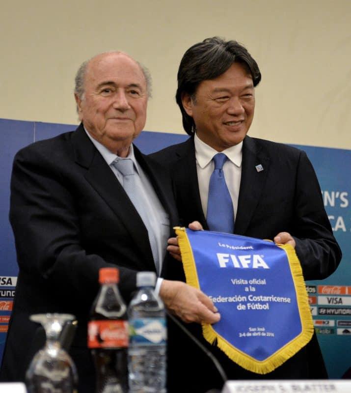 Sepp Blatter and Eduardo Li