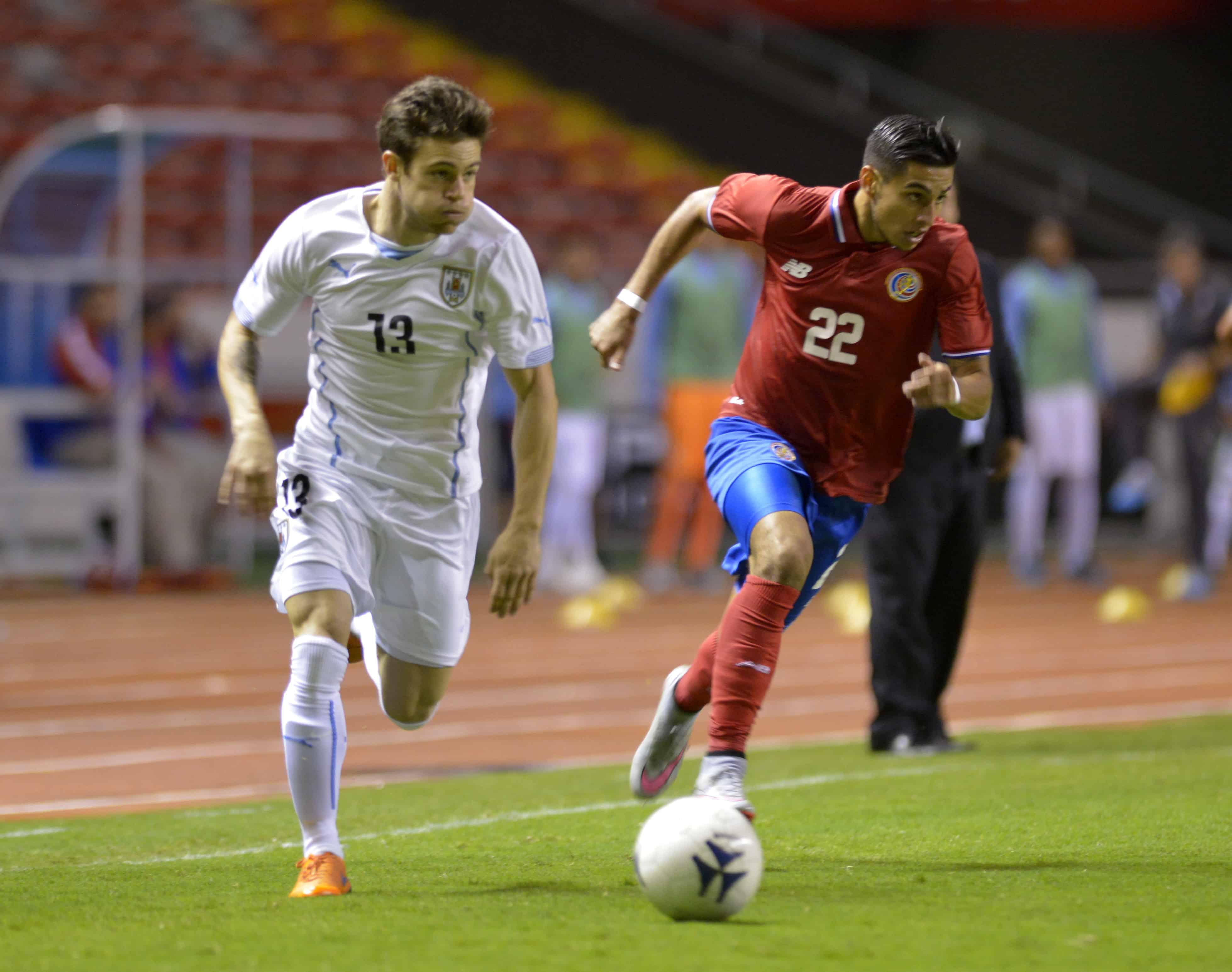 Costa Rica's La Sele vs Uruguay.