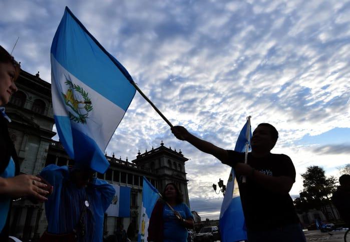 Guatemalans celebrate the resignation of President Otto Pérez Molina.