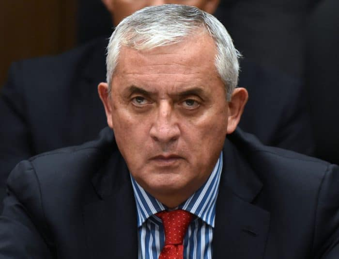 Guatemalan ex-President Otto Pérez Molina attends a hearing at the Supreme Court in Guatemala City on Sept. 3, 2015.