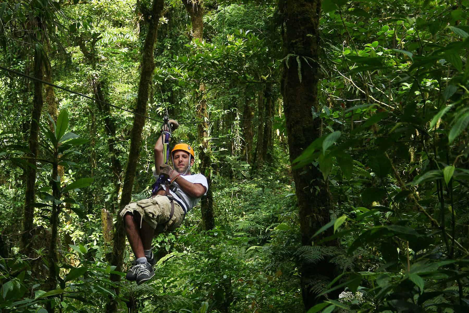 Ziplining at Monteverde, Costa Rica
