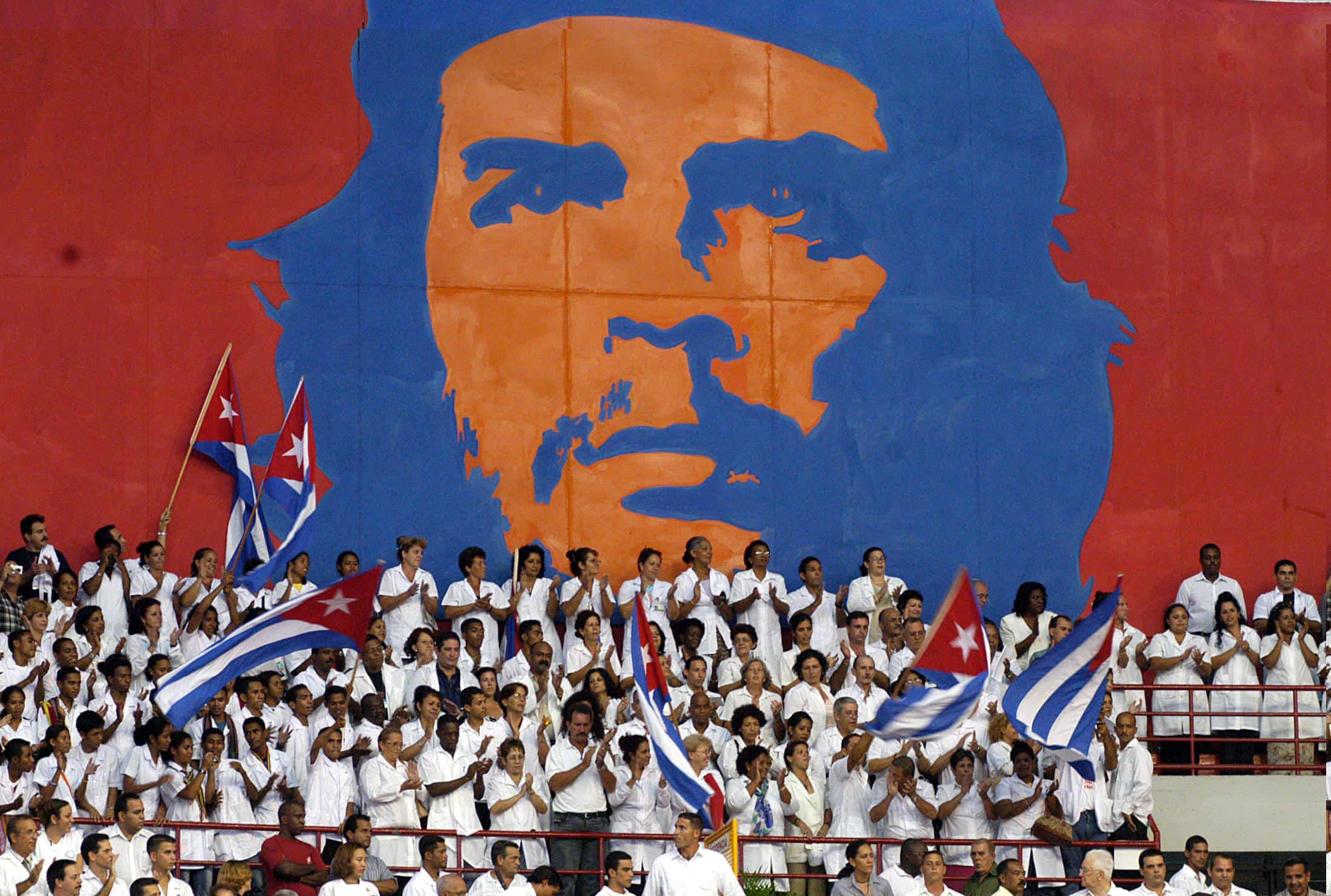 Young Cuban doctors take part in a graduation ceremony for thousands of new professionals.