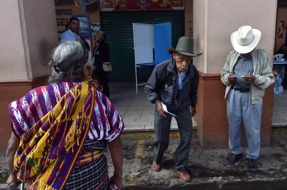 A polling station in San Juan Sacatepéquez, 40 km west of Guatemala City, during general elections on Sept. 6, 2015.