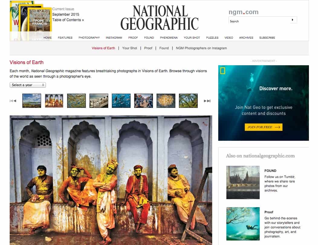 A recent National Geographic cover.